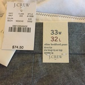 Men's Jcrew slim Bedford pant